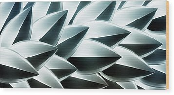 Metallic Feathers, Full Frame Wood Print by Ralf Hiemisch
