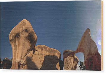 Wood Print featuring the photograph Metate Arch And Hoodoos  by Gregory Scott