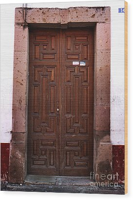 Mexican Door 45 Wood Print by Xueling Zou