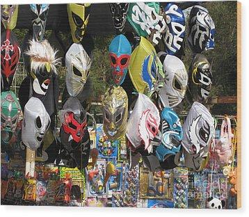Mexican Masks Wood Print by Stav Stavit Zagron