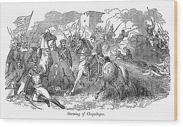 Mexican War: Chapultepec Wood Print by Granger