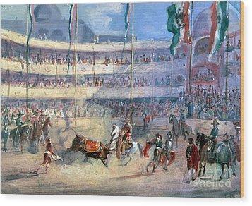 Mexico: Bullfight, 1833 Wood Print by Granger