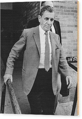 Meyer Lansky Leaves Federal Court July Wood Print by Everett
