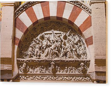 Mezquita Cathedral Religious Carving Wood Print by Artur Bogacki