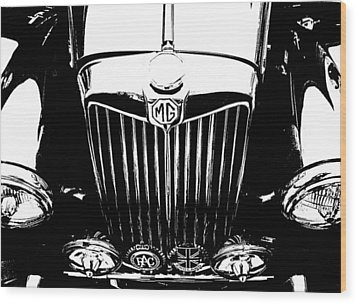 Mg Grill Black And White Wood Print