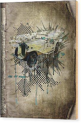 Mg Tc Roadster Wood Print by Svetlana Sewell