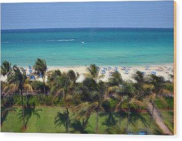 Miami Beach Wood Print by Pravine Chester