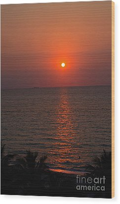 Wood Print featuring the photograph Miami Sunrise by Pravine Chester