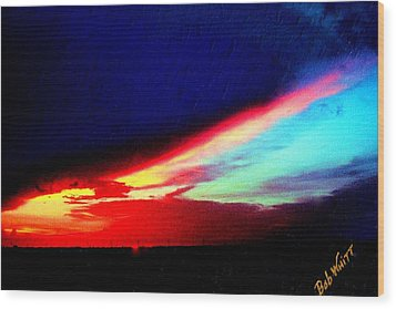 Wood Print featuring the photograph Miami Western Sky by Bob Whitt