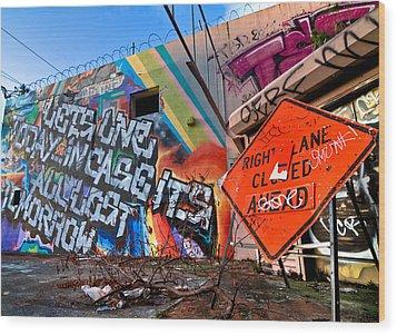 Miami Wynwood Graffiti  Wood Print