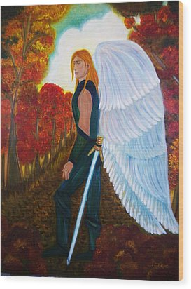 Michael - Michael Archangel Series By Yesi Casanova Wood Print