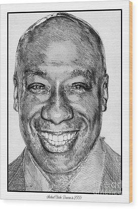 Michael Clarke Duncan In 2009 Wood Print by J McCombie
