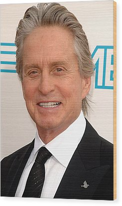 Michael Douglas At Arrivals For 37th Wood Print by Everett