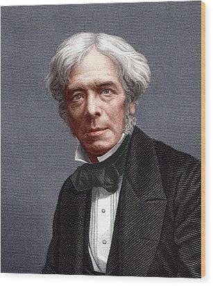 Michael Faraday, English Chemist Wood Print by Sheila Terry