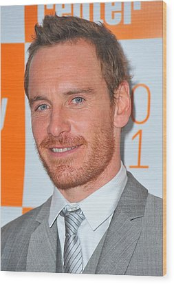Michael Fassbender At Arrivals Wood Print by Everett