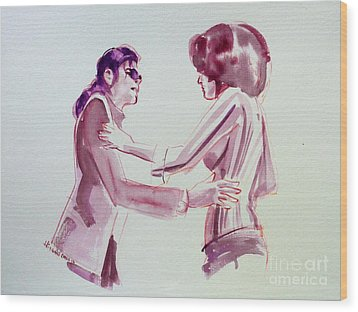Michael Jackson - Just Can't Stop Loving You Wood Print by Hitomi Osanai