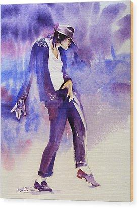 Michael Jackson - Not My Lover Wood Print by Hitomi Osanai