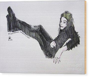 Michael Jackson - Turn It On Wood Print by Hitomi Osanai