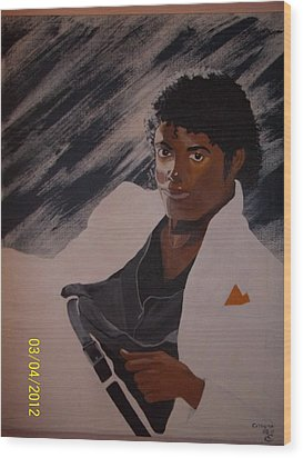 Michael Jackson Wood Print by Elaine Holloway