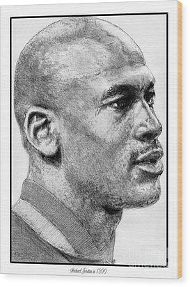 Michael Jordan In 1990 Wood Print by J McCombie