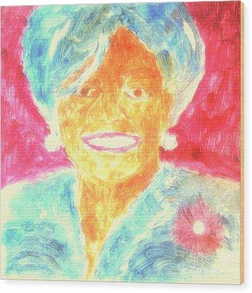 Michelle Obama 2 Wood Print by Richard W Linford