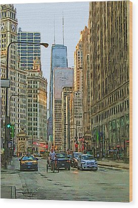 Michigan Avenue Wood Print by Vladimir Rayzman