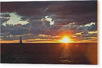 Wood Print featuring the photograph Michigan Sunset by Randall  Cogle