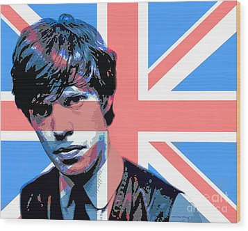 Mick Jagger Carnaby Street Wood Print by David Lloyd Glover