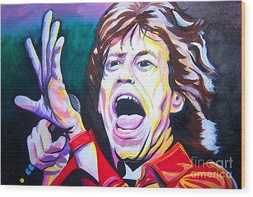 Mick Jagger Wood Print by Ken Huber