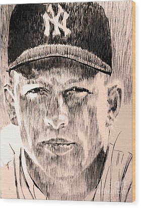 Mickey Mantle Wood Print by Robbi  Musser