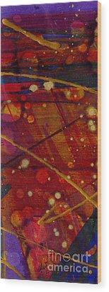 Mickey's Triptych - Cosmos II Wood Print by Angela L Walker