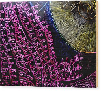 Micro Beetle Phase Two Wood Print by Lisa Brandel