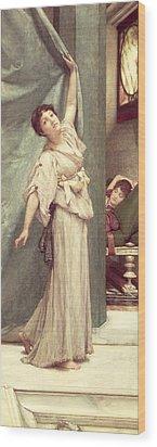 Midday Slumbers  Wood Print by Sir Lawrence Alma-Tadema