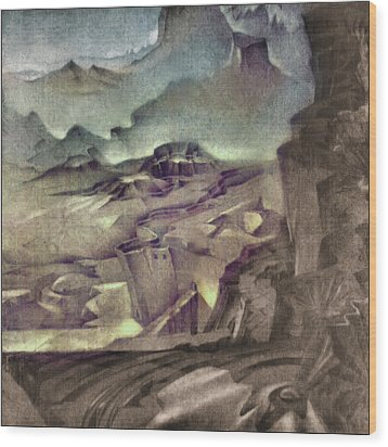 Middle Earth 1981 Wood Print by Glenn Bautista