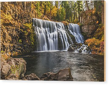 Wood Print featuring the photograph Middle Falls Mccloud River by Randy Wood