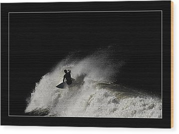 Wood Print featuring the digital art Midnight 02 by Kevin Chippindall