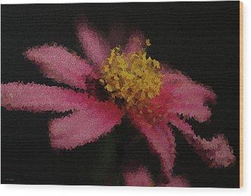 Midnight Bloom Wood Print by Lauren Radke