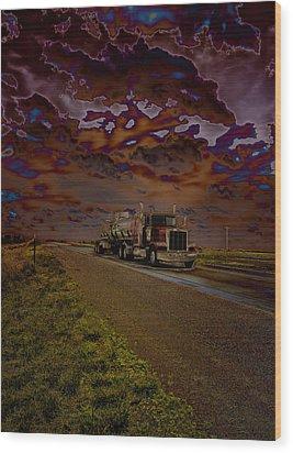 Midnight Deisel Wood Print by Bill Tiepelman