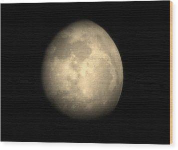Midnight Moon Wood Print by Aliesha Fisher