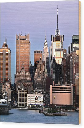 Midtown Manhattan 03 Wood Print by Artistic Photos