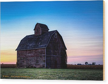 Midwest Sun Down Wood Print by Dan Crosby