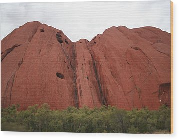 Wood Print featuring the photograph Mighty Uluru by Laurel Talabere