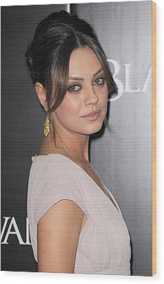 Mila Kunis At Arrivals For Black Swan Wood Print by Everett