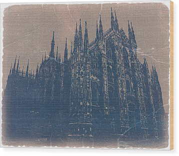 Milan Cathedral Wood Print by Naxart Studio