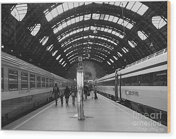 Milano Centrale Wood Print