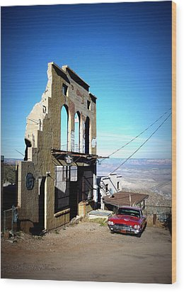 Mile High Jerome Arizona Wood Print by Cindy Wright