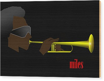 Miles Davis Wood Print by Victor Bailey