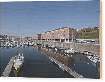 Wood Print featuring the photograph Milford Haven Marina 2 by Steve Purnell