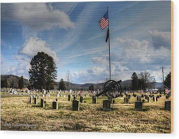 Military Honors Wood Print by Shirley Tinkham