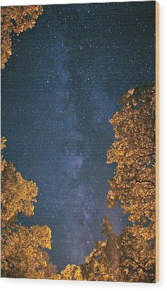Wood Print featuring the photograph Milky Way by Brian Duram